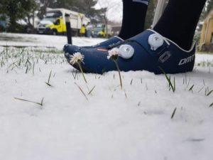 "As Frank Sinatra sing ""Let it snow, let it snow, let it snow"""